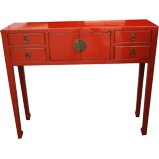 Chinese Red Dressing Table